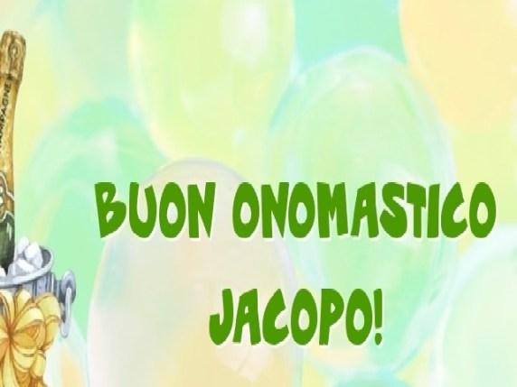Foto auguri onomastico Jacopo