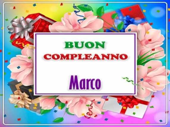 Buon Compleanno Marco Auguri Simpatici E Originali