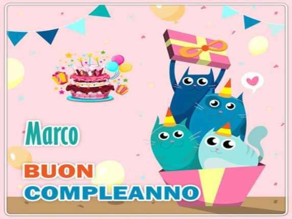 Buon compleanno Marco! Auguri simpatici e originali