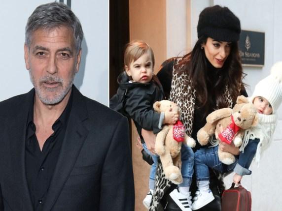 George Clooney sua moglie e i figli
