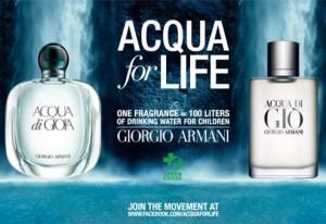 ACQUA FOR LIFE: EMPORIO ARMANI SOSTIENE GREEN CROSS INTERNATIONAL