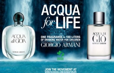 ACQUA FOR LIFE: EMPORIO ARMANI SOSTIENE GREEN CROSS INTERNATIONAL