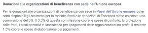 Donazioni alle organizzazioni di beneficenza con sede nell'Unione europea