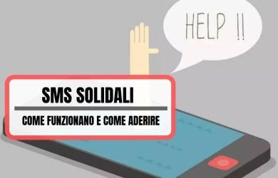 sms solidali come funzionano e come aderire se sei una associazione