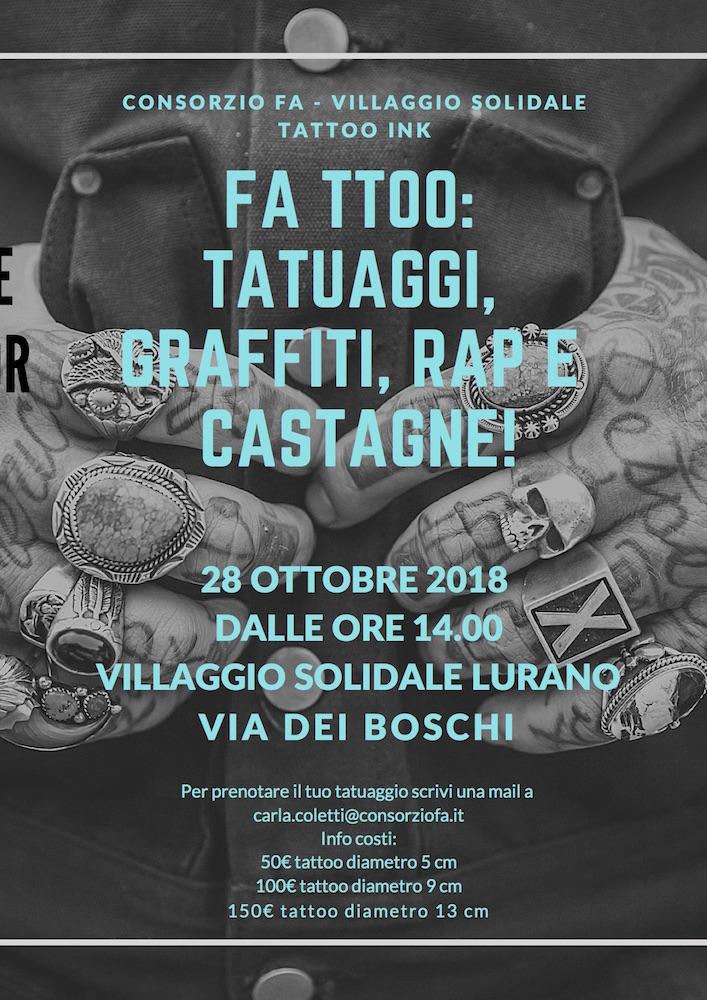 FA TTOO: Tatuaggi, Graffiti, Rap e Castagne al Villaggio Solidale di Lurano