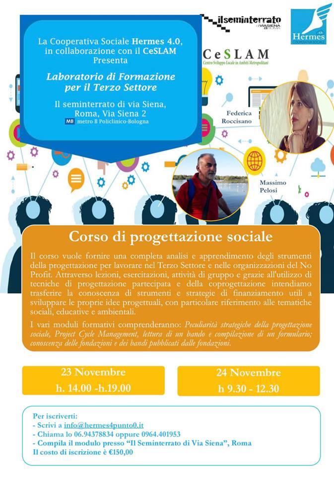Corso di Progettazione Sociale