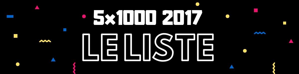 5x1000 2017 Le Liste Complete Dei Beneficiari Con Importi