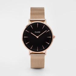 orologi cluse boheme oro rosa e nero