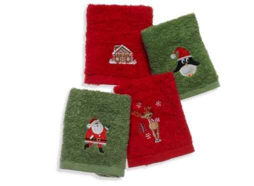 Christmas Fingertip Towels 4 Pack For 199 FREE Shipping
