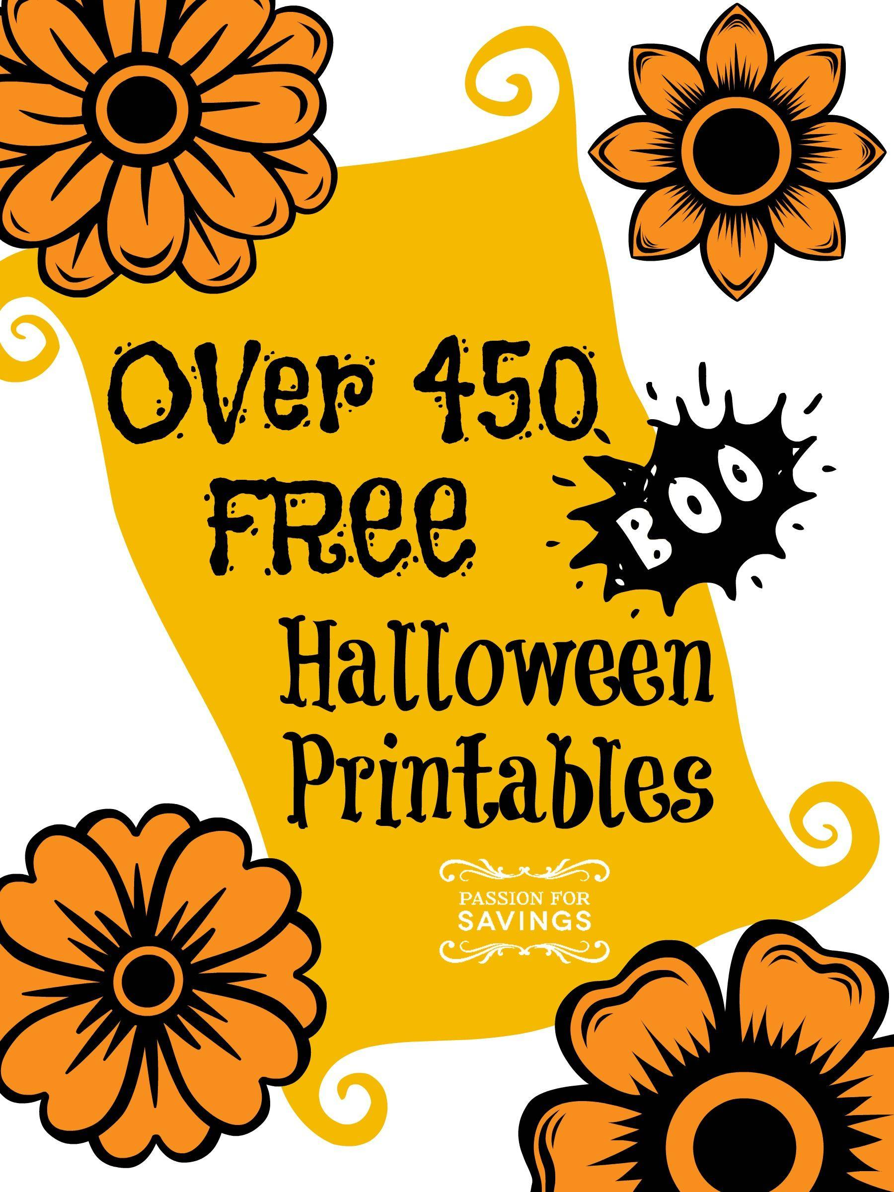 Over 450 Free Halloween Printables To Download