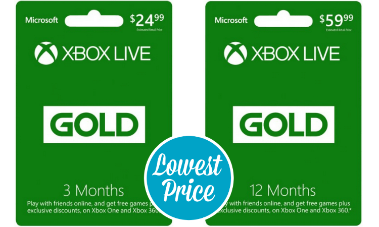 Best Price On A Microsoft Xbox Live Gold Card