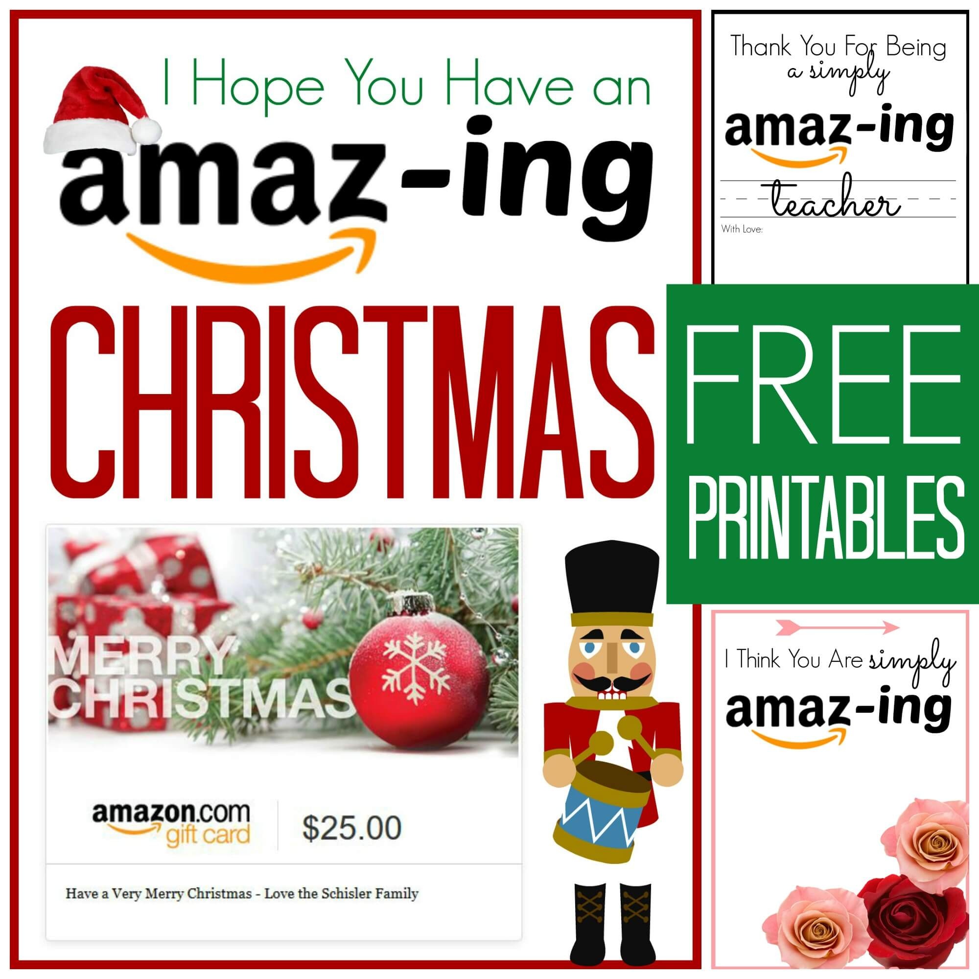 FREE Amazon Gift Card Printable Cards