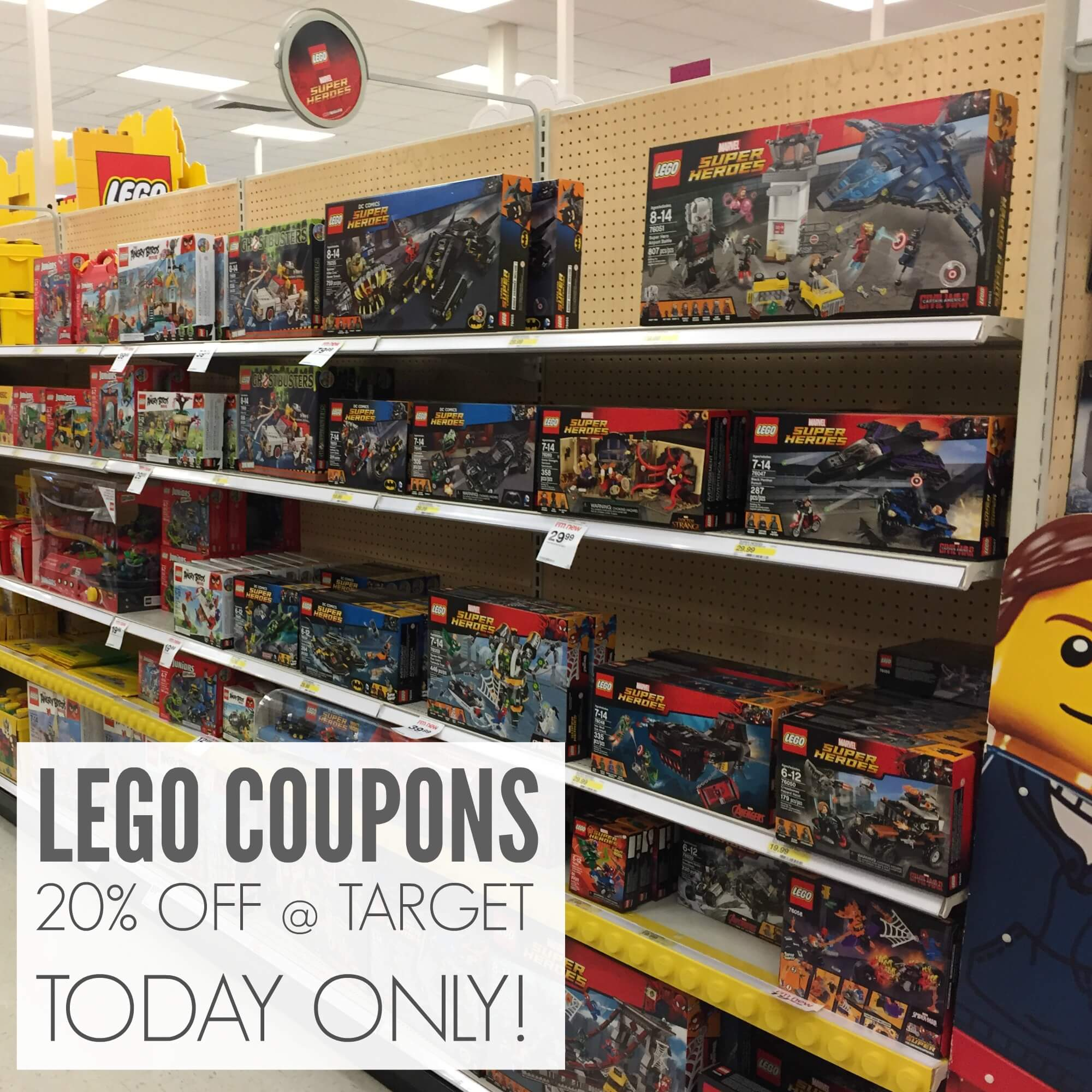 RARE 20 Target Cartwheel LEGO Coupons