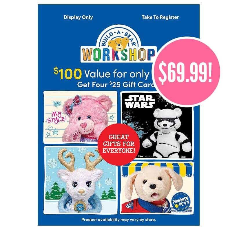 Build A Bear Black Friday Deal On Gift Cards