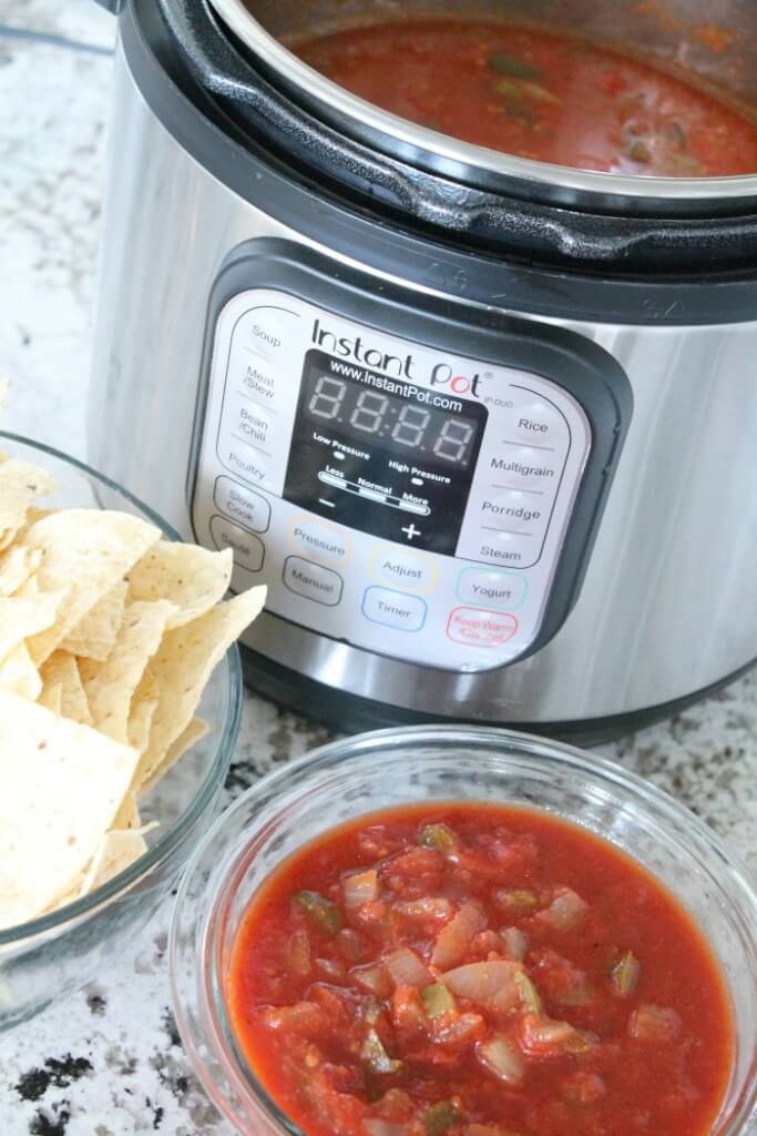 Instant Pot Salsa Recipe via Passion for Savings
