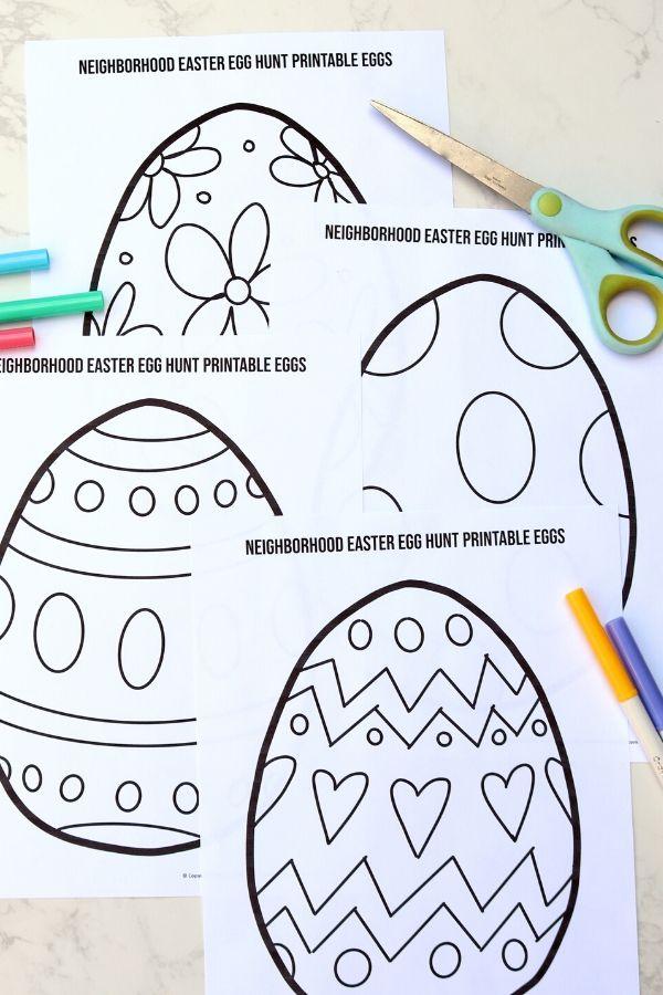 Neighborhood Easter Egg Hunt Printable Passion For Savings