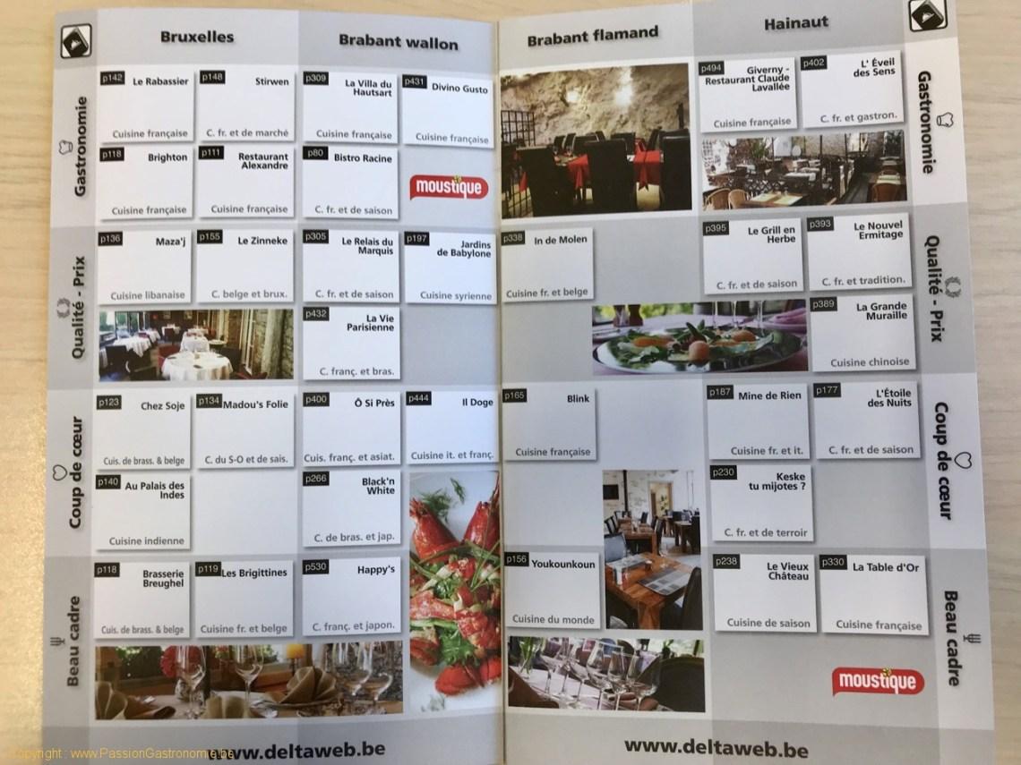 Guide Delta restaurants 2018 - Les restaurants du passeport