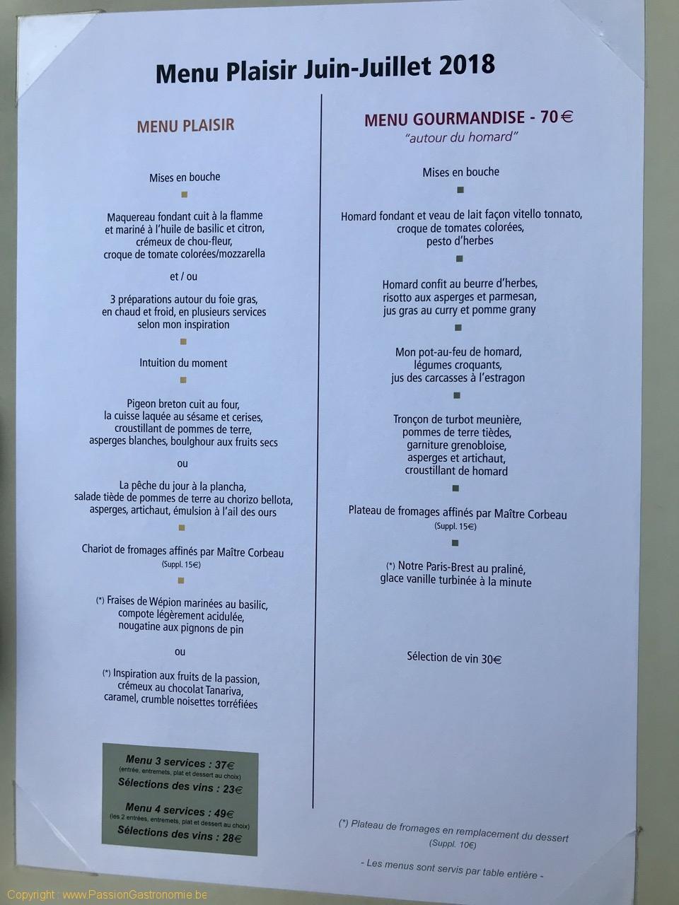 Restaurant Attablez-Vous - Les menus