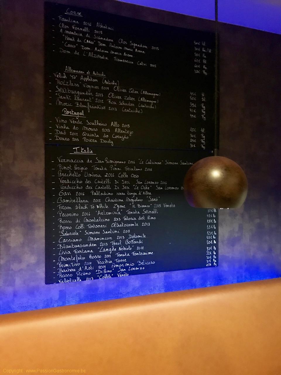 Restaurant Bistro Racine - La carte des vins