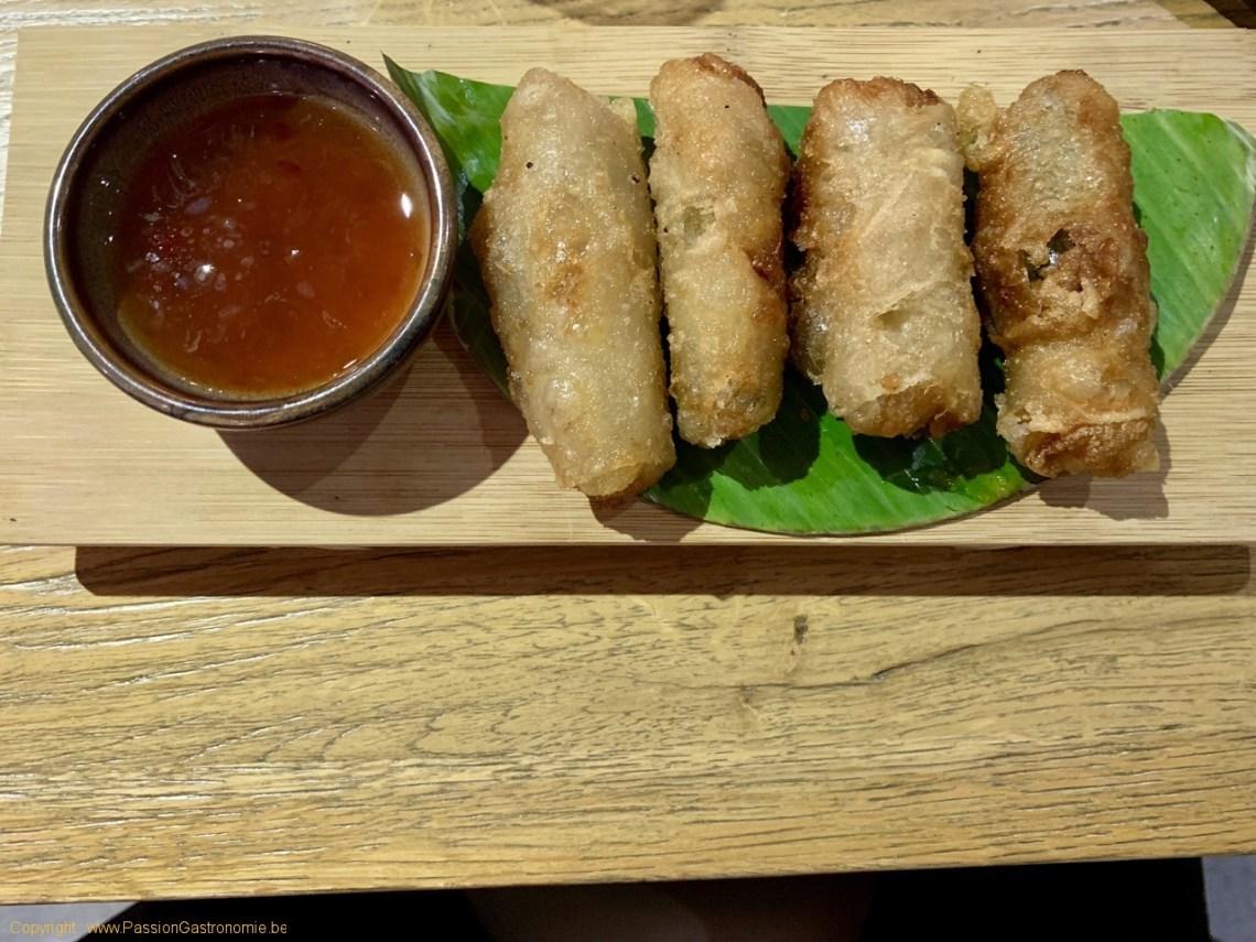 Restaurant chinois Dynasty - Nems au porc Ibérique