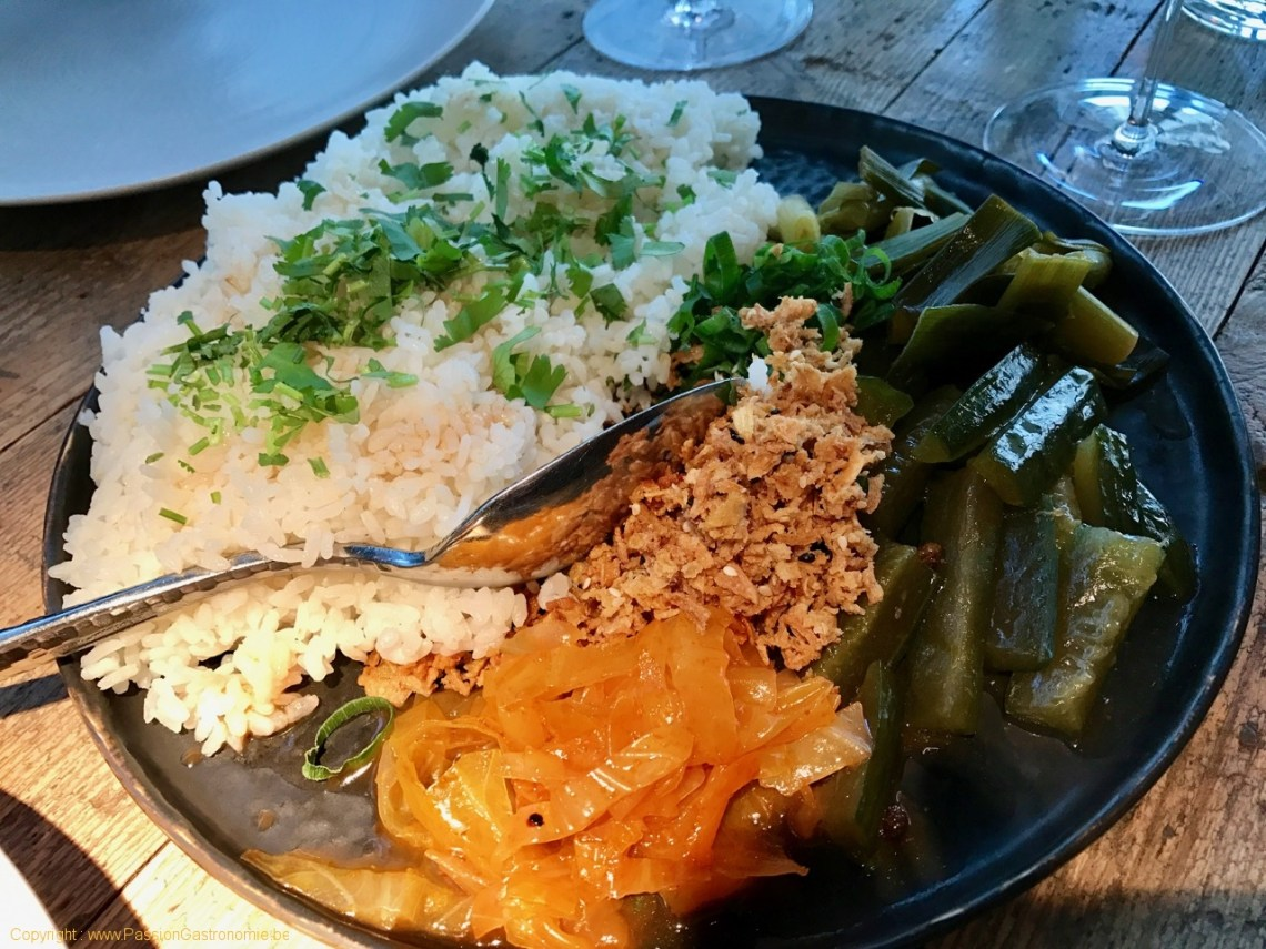 Restaurant Humphrey à Bruxelles - Table de riz