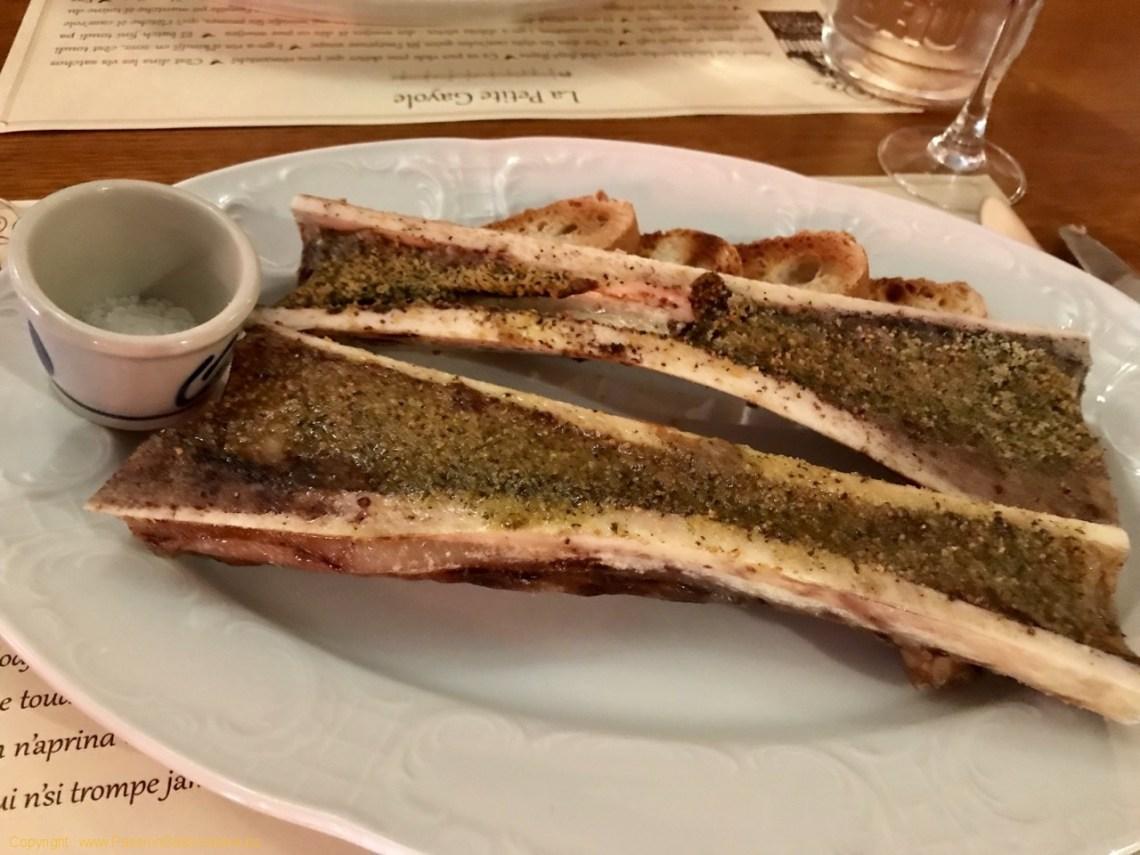 Restaurant La Petite Gayole - L'os à moelle grillé