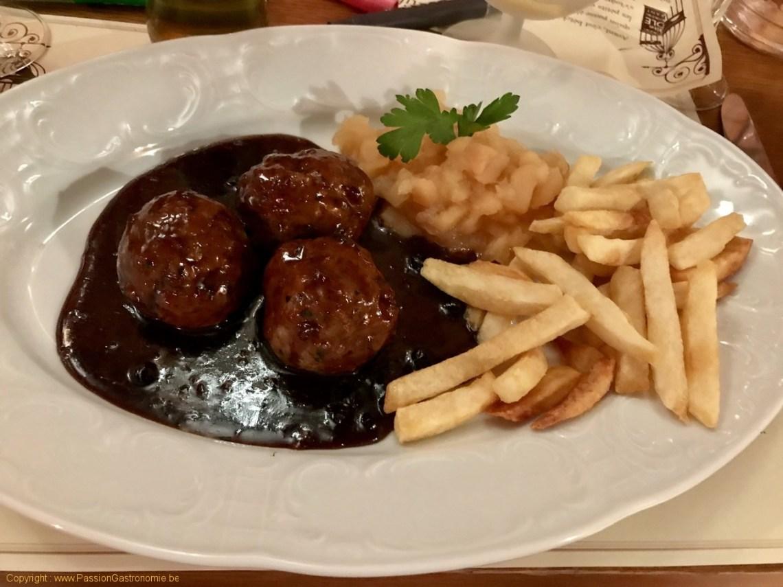 Restaurant La Petite Gayole - Boulets maison à la Liégeoise