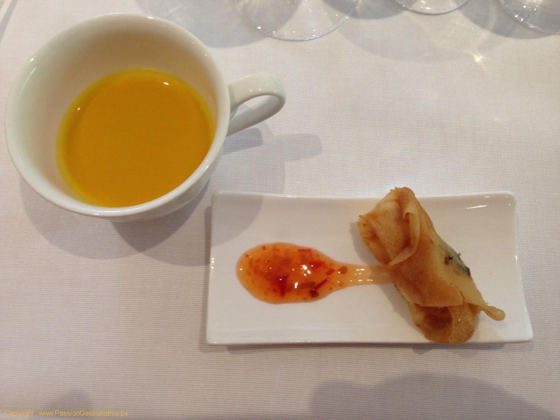 Restaurant Le Gril aux herbes d'Evan - Nem de homard