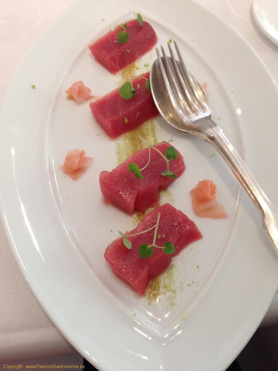 Restaurant Le Gril aux herbes d'Evan - Thon rouge Bluefin