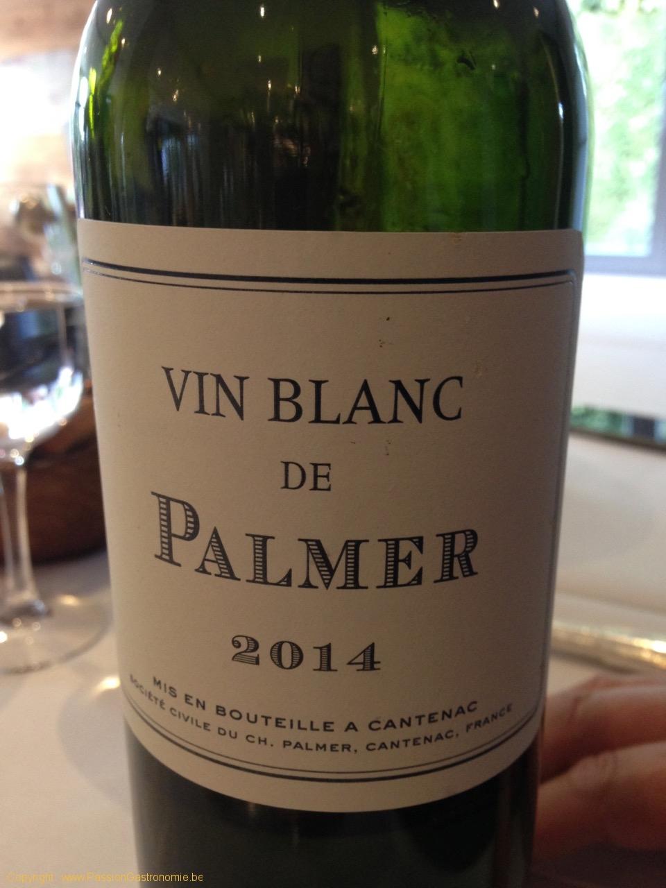 Restaurant Le Gril aux herbes d'Evan - Vin blanc de Palmer 2014