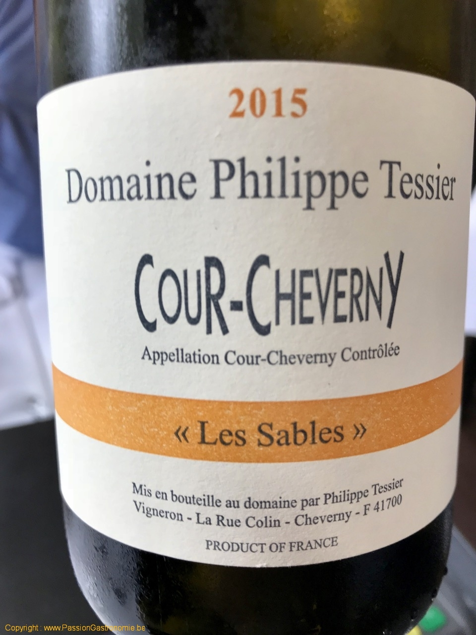 Restaurant Maxime Colin - Domaine Philippe Tessier Cour-Cheverny