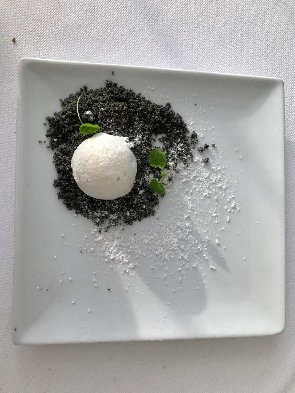 Restaurant Pouic Pouic - Crème au citron et yuzu, sorbet coco, rhum aux épices