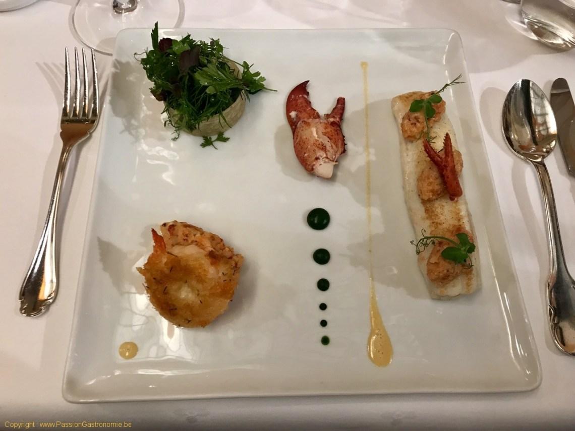 Restaurant Comme Chez Soi - Filets de sole et médaillon de homard