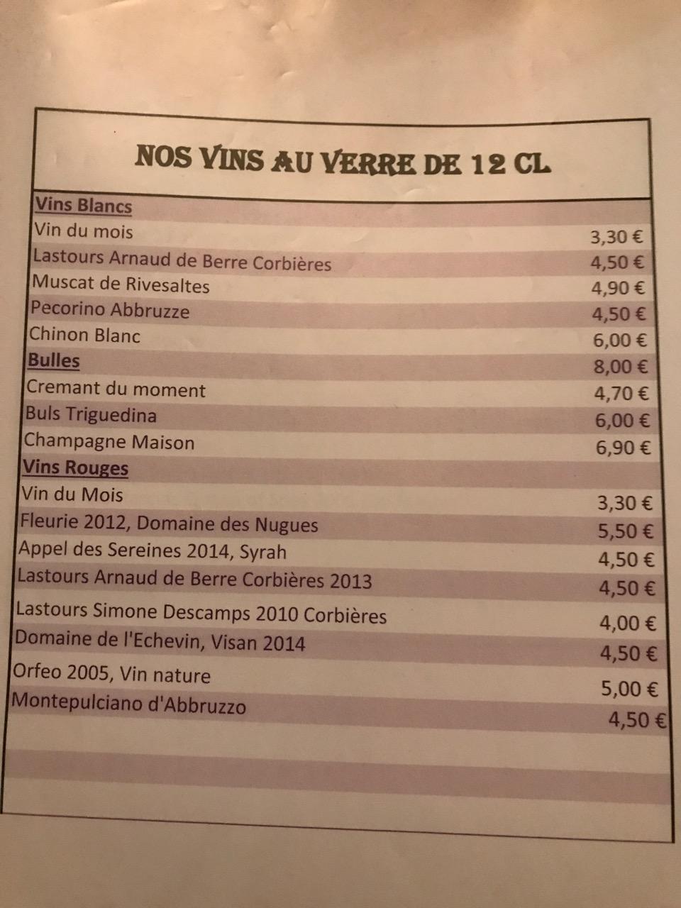 Restaurant Les caves de l'abbaye d'Aulne - Les vins au verre