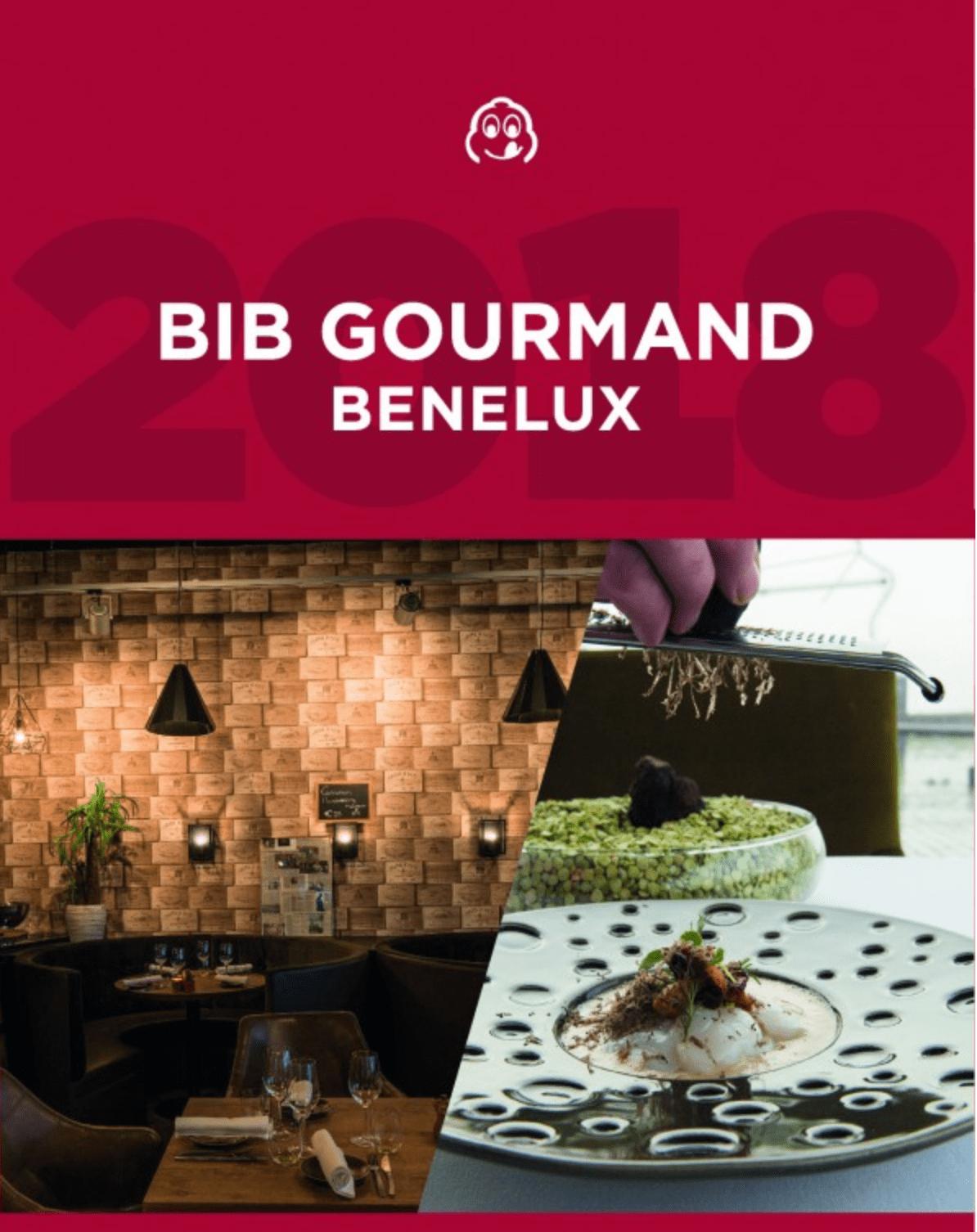 BIB gourmands Benelux Michelin 2019
