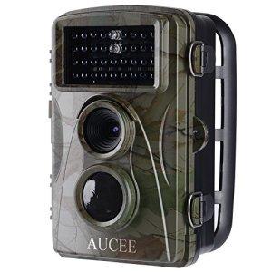 AUCEE Caméra de Chasse 12MP 1080P Caméra de Surveillance Infrarouge, 34PC 850nm IR LEDs Vision Nocturne jusqu'à 65 pieds Imperméable IP56 2.4 «LCD Basse Luminosité Traque IR Caméra de Surveillance