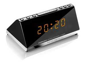 NAF NAF MORNING V2 – Radio réveil PLL 2 alarmes ultra compact.