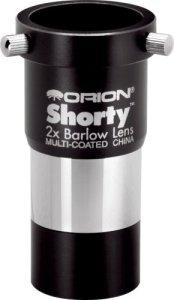 Orion 08711Shorty 3,2cm 2x lentille de Barlow (Noir)