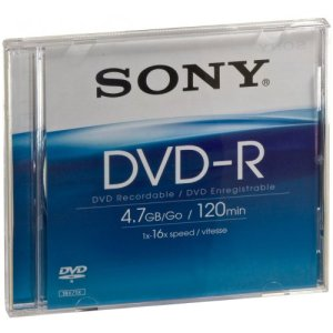 Sony 1 DVD-R 4,7 Go 16x BC DMR47AS16