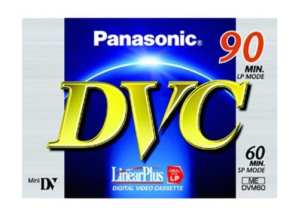 Panasonic AY-DVM60FE3B Blister de 3 cassettes Min DV 60 minutes Qualité standard