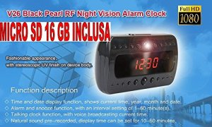 Réveil avec caméra + Micro SD 16Go Horloge espion 1920x 1080full hD night vision Motion Detector CW80acheter Web