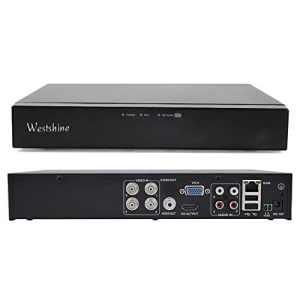 Westshine 4CH 1080P Enregistreur Vidéo Numérique pour AHD / TVI / CVI / Analog / IP DVR, Onvif, HDMI, Détection de Mouvement, Alarme Email, Accès à Distance, P2P Cloud (NO HDD)