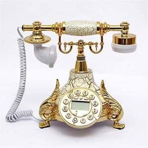 nostalgie Téléphone Classique Vintage Téléphone métal vieilli Sonnette Téléphone