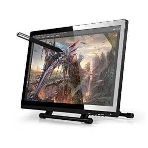 Ugee Ug-215054,6cm Pen Display Tablette moniteur écran IPS 1920x 1080haute définition avec moniteur LCD support de bureau et protection d'écran