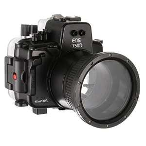 Yunchenghe Sea Frogs 130 pieds/40 Mètres Caméra sous-Marine Boîtier étanche, pour Canon EOS 750D EOS 750d (18-135mm)