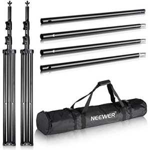 Neewer® 10'x12'/3m x 3.6m PRO Photographie Studio Vidéo Kulisse Système de soutien Support réglable avec sac de transport pour fond de fond