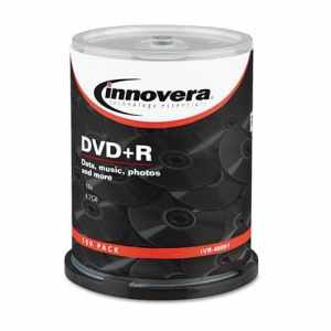 DVD+R Discs, 4.7GB, 16x, Spindle, Silver, 100/Pack, Sold as 1 Package