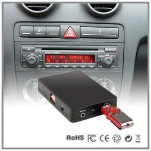 Interface d'adaptateur de lecteur stéréo / USB / SD / AUX / MP3– Changeur de CD – Pour Audi