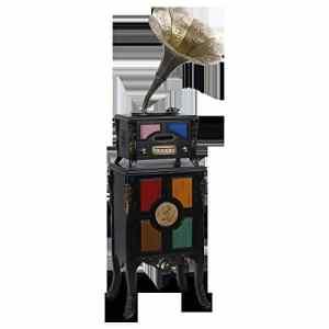 JJSSGGJJLLSSJJ Tourne-disque 3 vitesses 33, 45, 78 disque vinyle machine / mouvement de tube en aluminium triangulaire / Bluetooth / pickup ruby / adapté pour salon salle à manger chambre 552 * 452 * 1796 mm