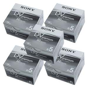 Sony DVM60PR4Mini DV 60min cassette/fabriqué au Japon/Dvm60r 5-set (25pcs)
